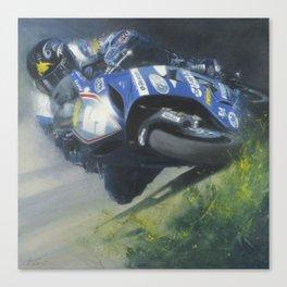 Bruce Anstey Isle of Man TT Canvas Print