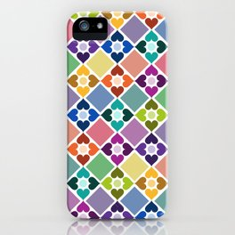 Colorful Floral Pattern II iPhone Case