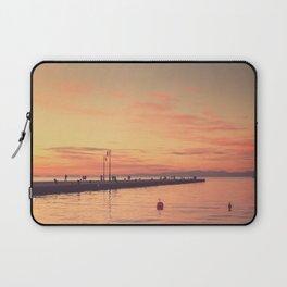 Trieste. Sunset over the Molo Audace. Laptop Sleeve
