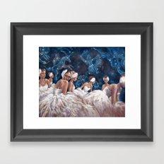Ballerina Constellation Framed Art Print