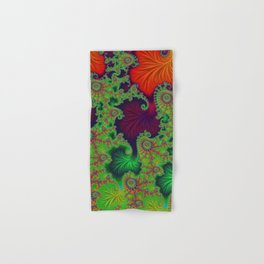 Psychadelic Centerpiece - Fractal Art Hand & Bath Towel