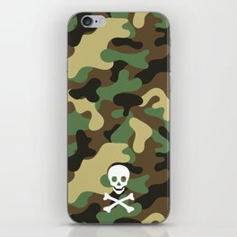 CAMO & WHITE SKULL iPhone Skin