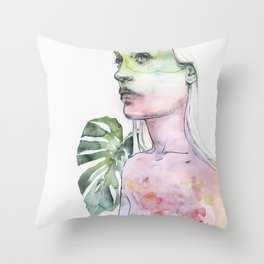 viridescent Throw Pillow