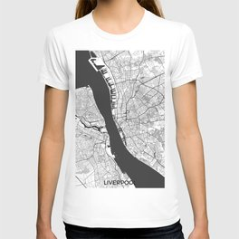 Liverpool Map Gray T-shirt