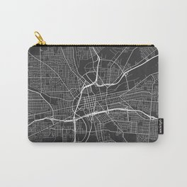 Dayton Map, USA - Gray Carry-All Pouch