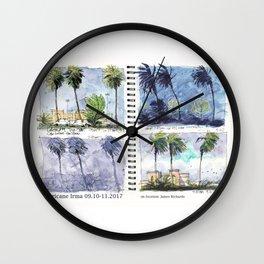 Hurricane Irma on Location w title Wall Clock