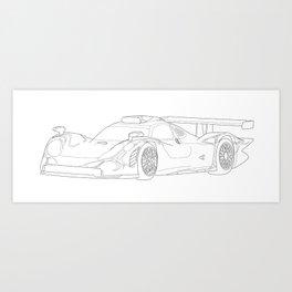 Porsche 911 GT1 Art Print