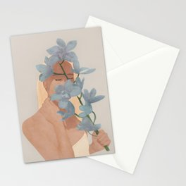 Blue Orchids Stationery Cards