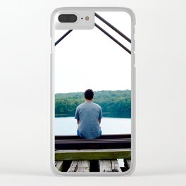 Pensive and Lonesome Clear iPhone Case