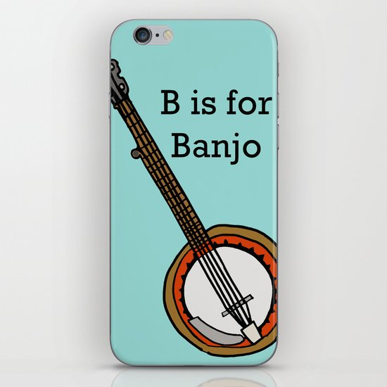 B is for Banjo, typed. iPhone & iPod Skin