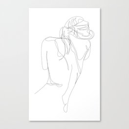 concealment - one line nude art Canvas Print