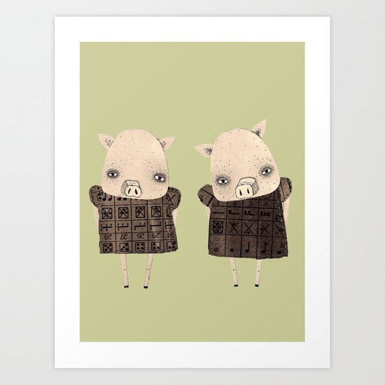 the two little cyberbullies Art Print