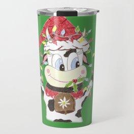 Snowbell and the Christmas lights Travel Mug