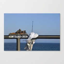 Bait and Fish Cutting Only Canvas Print