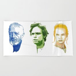 Ben, Luke and Rey Beach Towel