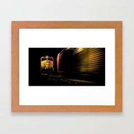 """ Space Train "" - Print Framed Art Print"