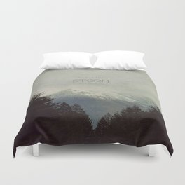Brave the Storm Duvet Cover