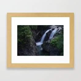 Twin Falls Framed Art Print