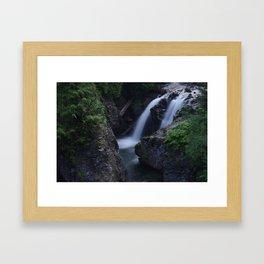 Twin Falls Framed Art Print