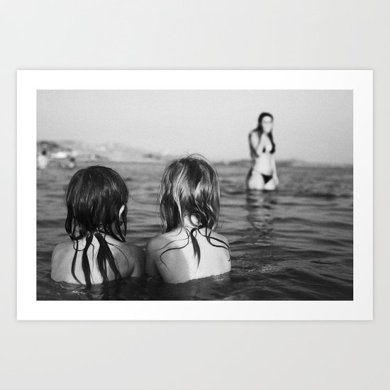 in the sea Art Print