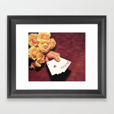 Poker Hand Framed Art Print