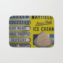 Vintage Ice Cream Sign 2 Bath Mat