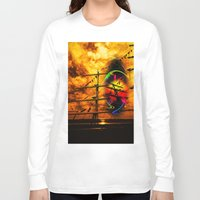 sail Long Sleeve T-shirts featuring Under sail  by Walter Zettl