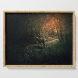 majestic forest guardian Serving Tray