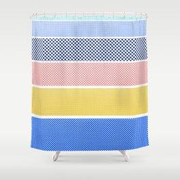 Halftone Stripes Shower Curtain