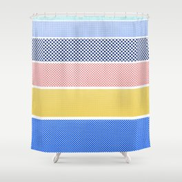 Halftone Stripes Shower Curtain