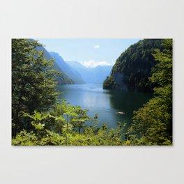 Germany, Malerblick, Koenigssee Lake II Canvas Print
