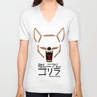 coyote V-neck T-shirts featuring Coyote by Millennium Gorilla