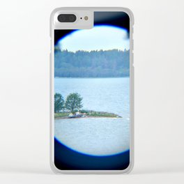 Through binoculars and cellphone Clear iPhone Case
