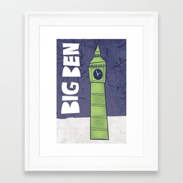 Tourist Sites- Big Ben Framed Art Print
