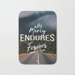 His Mercy Endures Forever Bath Mat