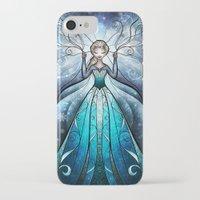 mandie manzano iPhone & iPod Cases featuring The Snow Queen by Mandie Manzano