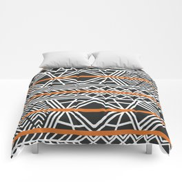 Tribal ethnic geometric pattern 022 Comforters