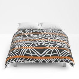 Tribal ethnic geometric pattern 022 Comforters