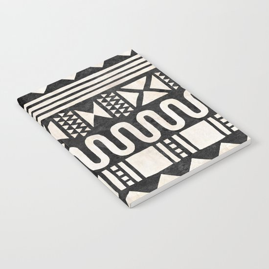African Shapes - Black Notebook