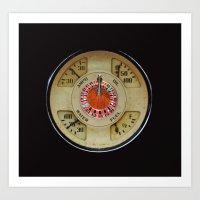 Custom Car Instrument Design with Lucky Roulette Wheel Art Print