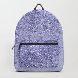 Elegant girly lavender faux glitter marble pattern Backpack