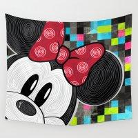 minnie Wall Tapestries featuring Minnie Swirl Pop Art by ggburns