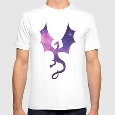 SPACE DRAGON MEDIUM White Mens Fitted Tee