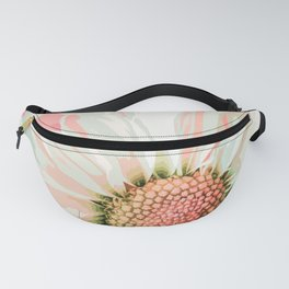 Elegant White Daisy in Watercolor Fanny Pack