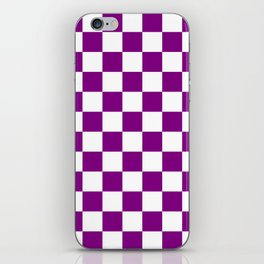 Diamonds - White and Purple Violet iPhone Skin