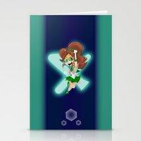 sailor jupiter Stationery Cards featuring Sailor Jupiter by Eileen Marie