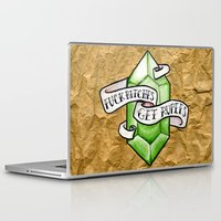 the legend of zelda Laptop & iPad Skins featuring Zelda by Danni Fuentes