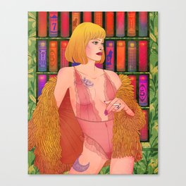 Venus in furs Canvas Print