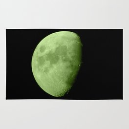 4K Dark Side of the Moon Lime Green Rug