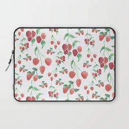 Watercolor Strawberries Laptop Sleeve